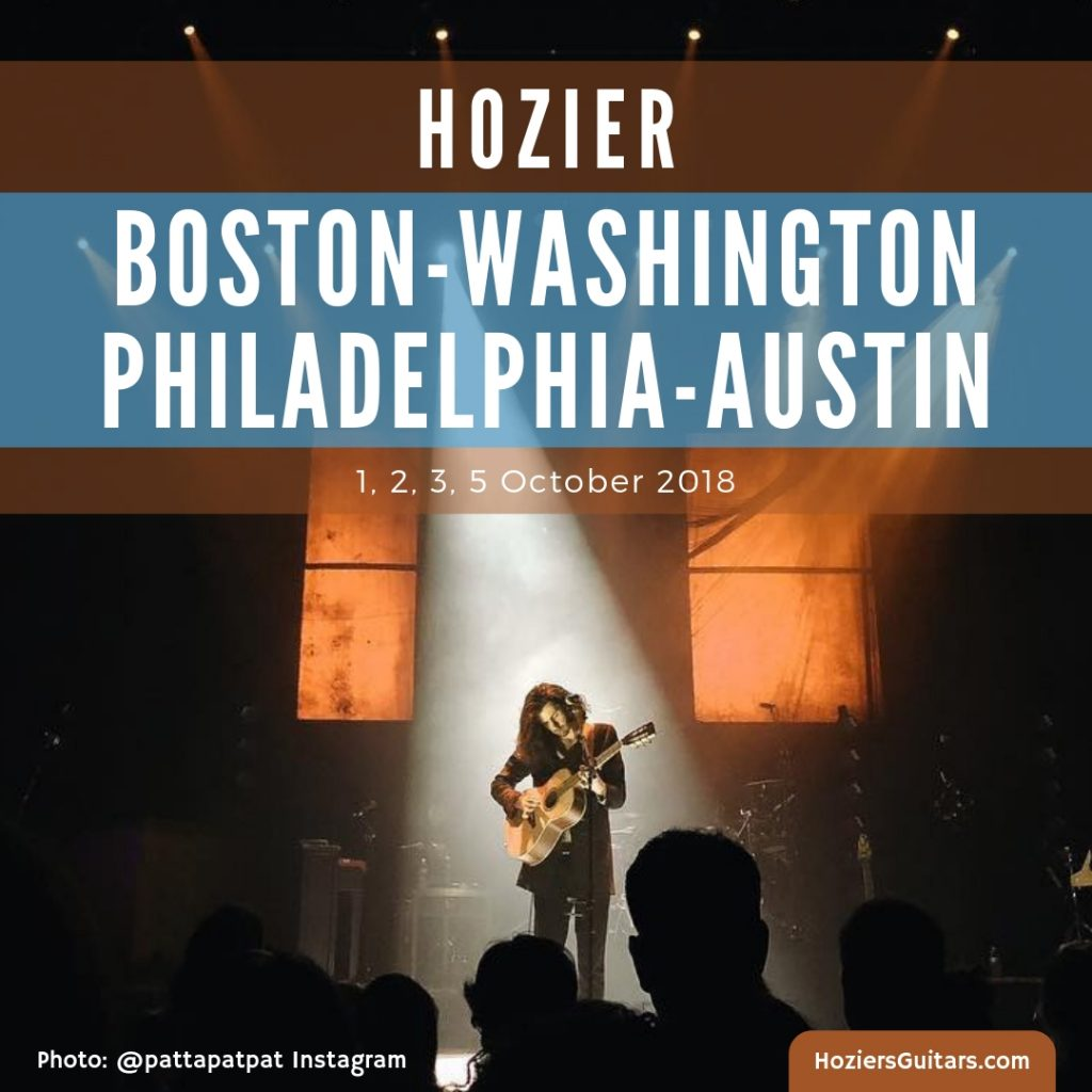 Hozier Tour 2018-Boston-Washington-Philadelphia-Austin