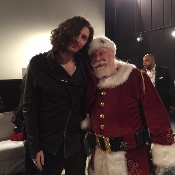Hozier with Santa