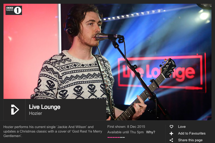 BBC Live Lounge God Rest Ye Merry Gentlemen