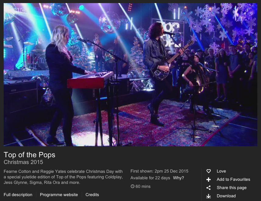BBC iPlayer Hozier Top of the Pops