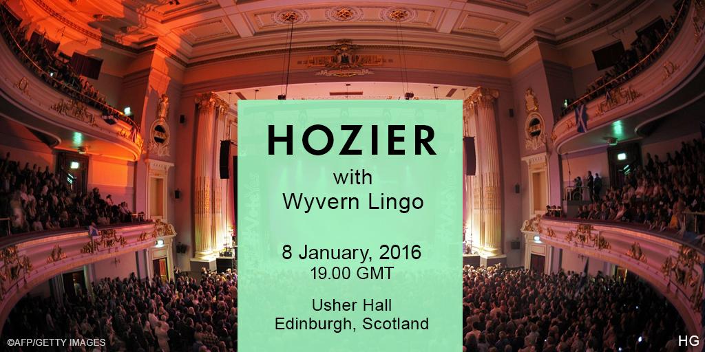 Hozier plays Usher Hall Edinburgh