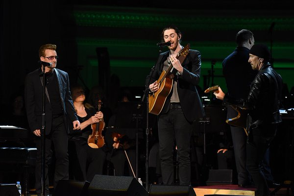 Hozier with Bono and The Edge at Carnegie Hall