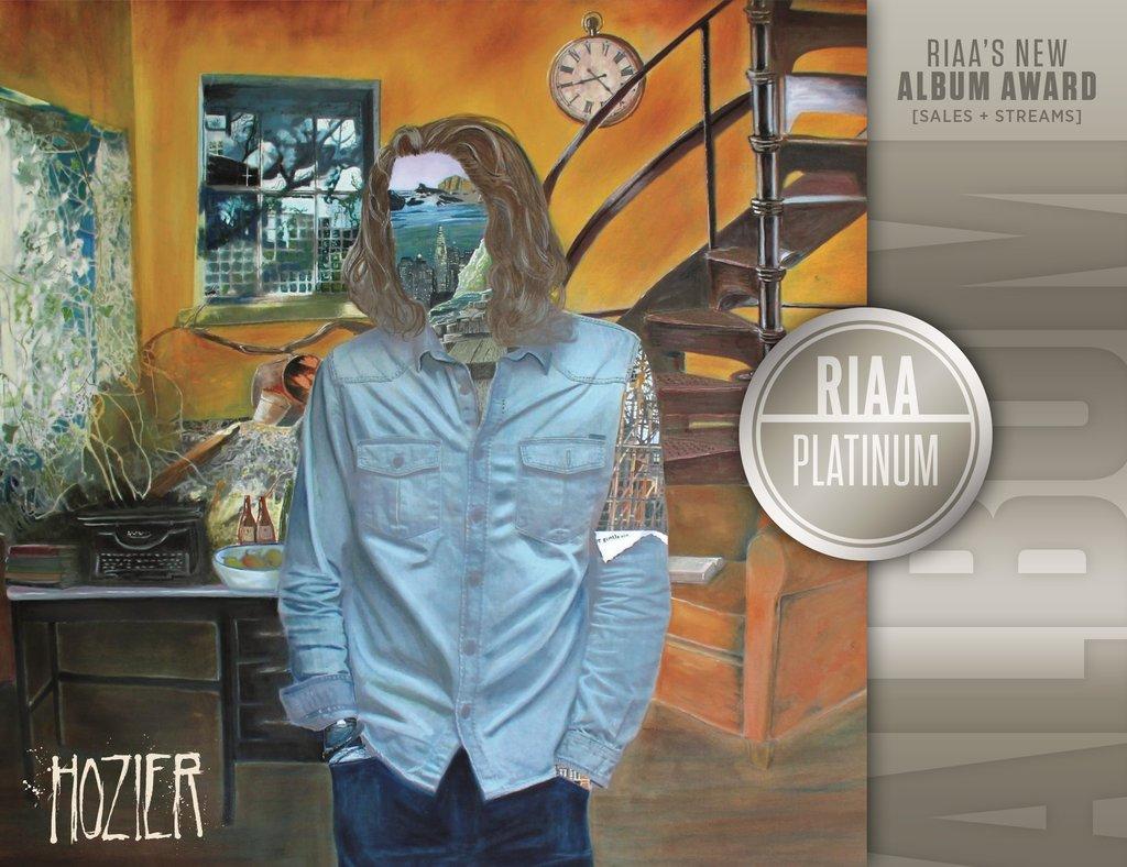 Hozier RIAA Platinum Album