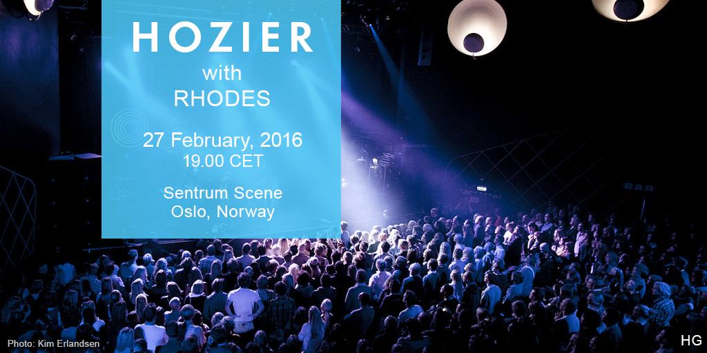 Hozier Oslo Sentrum Scene