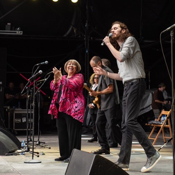Mavis Staples with Hozier at Electric Picnic