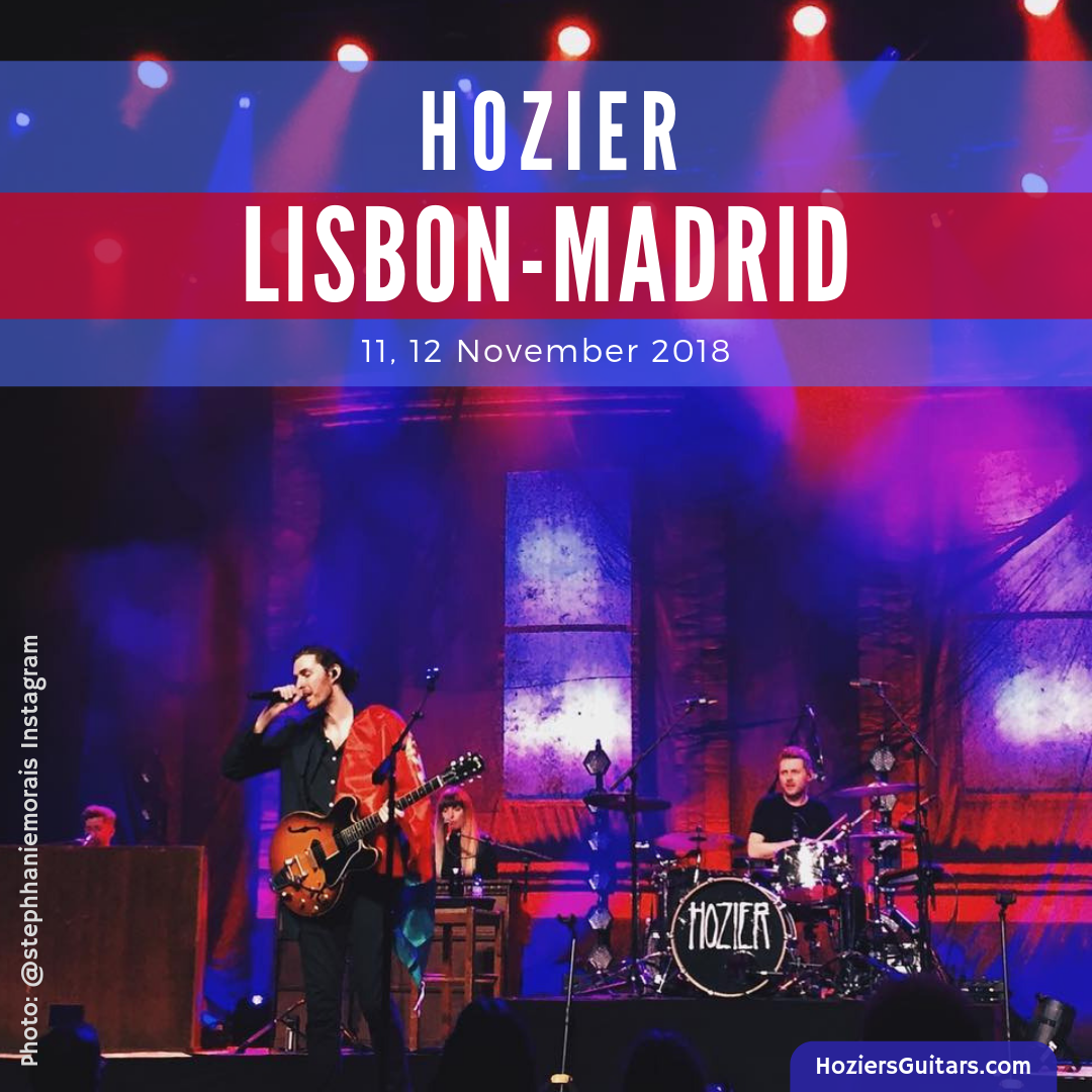Hozier Europe 2018 Lisbon-Madrid