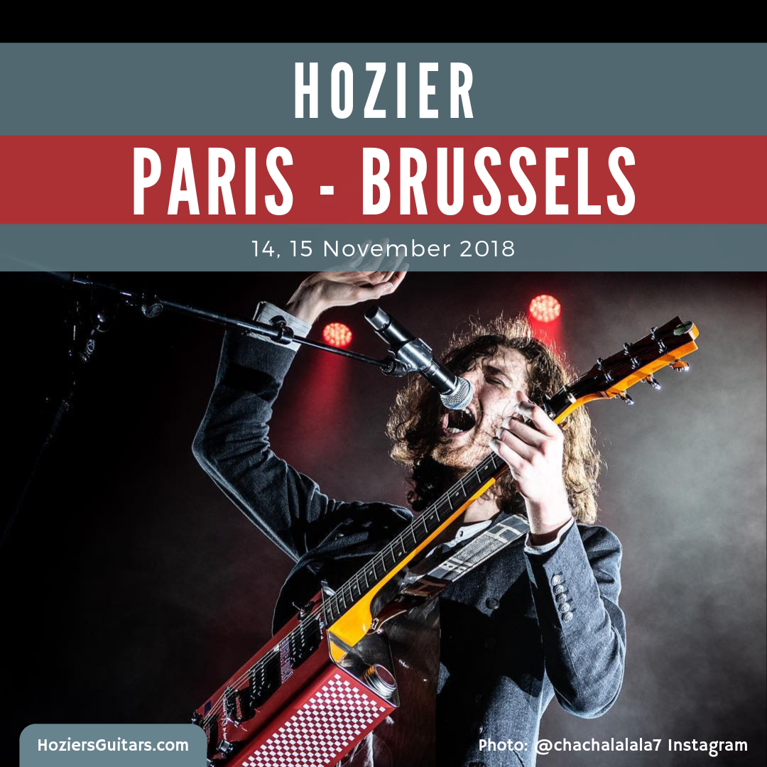Hozier Europe 2018 Paris-Brussels