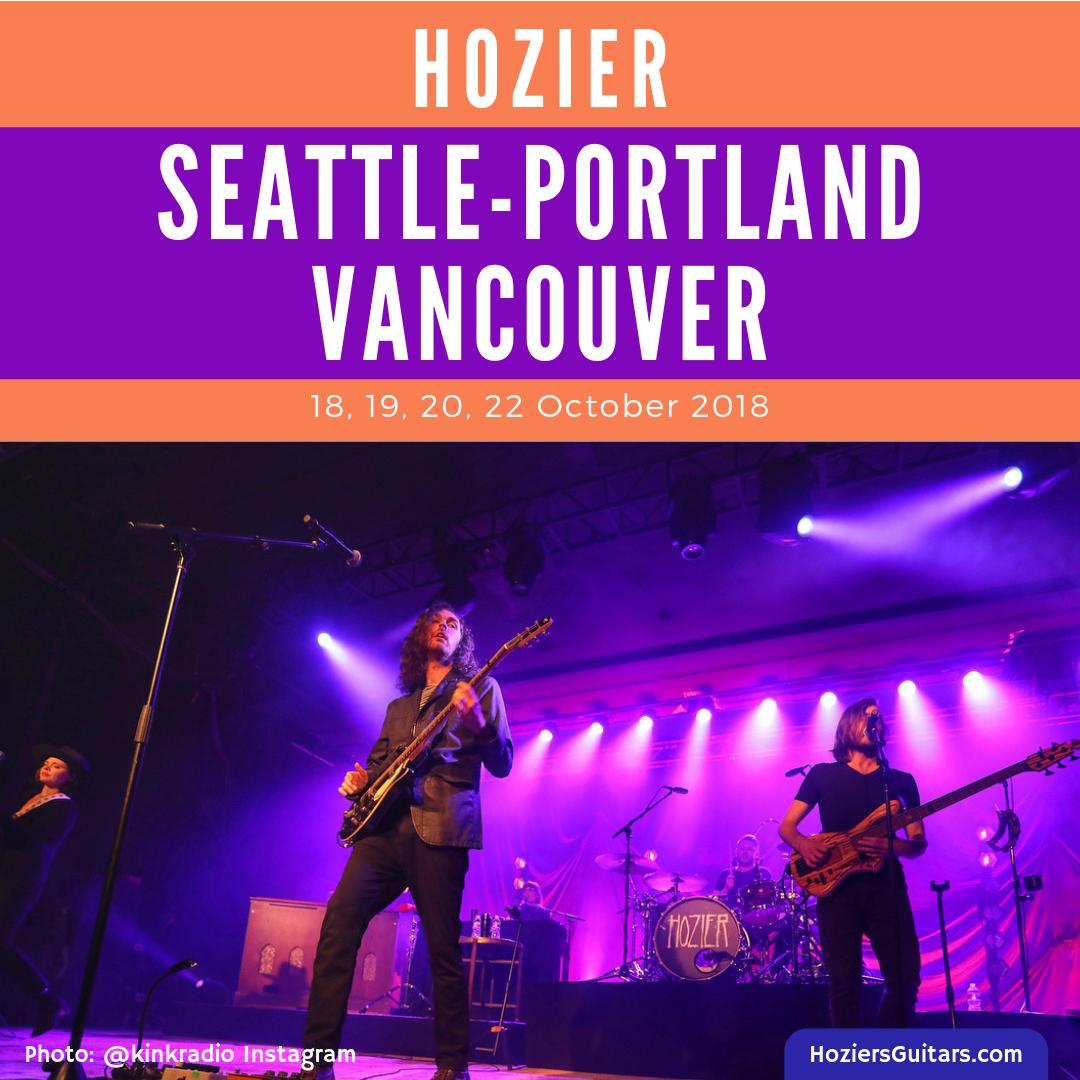Hozier Tour 2018 Seattle Portland Vancouver